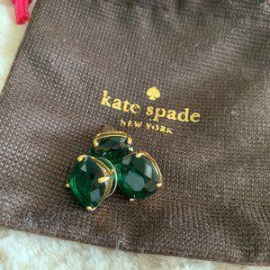 Kate Spade Emerald Square Stud Earrings